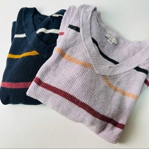 American eagle bundle of 2 striped sweaters large